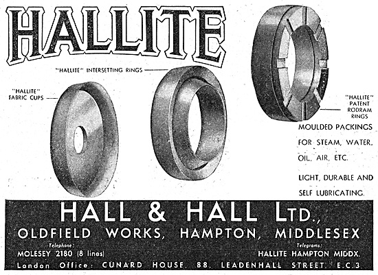 Hall & Hall - Hallite Moulded Packings & Rings