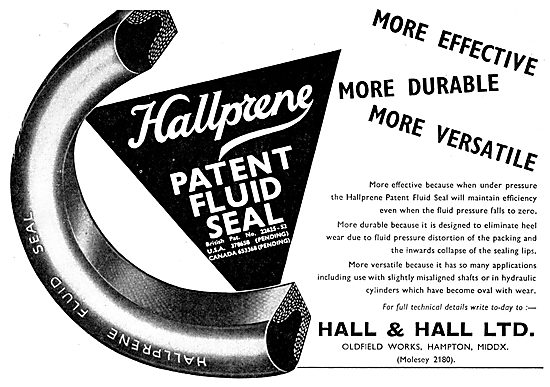 Hall & Hall - Hallprene Synthetic Seals For High Pressure Systems