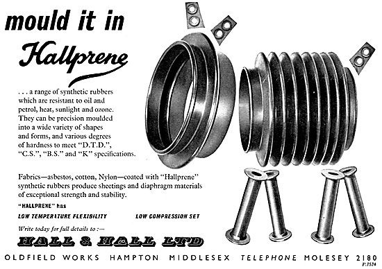Hall & Hall - Hallprene Syntehtic Rubber Mouldings 1959