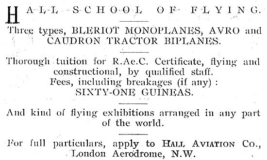 Learn On Bleriot Or Avro At The Hall School Of Flying Hendon