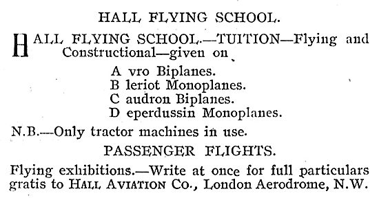 Leran On Caudron Or Deperdussin At Hall School Of Flying Hendon
