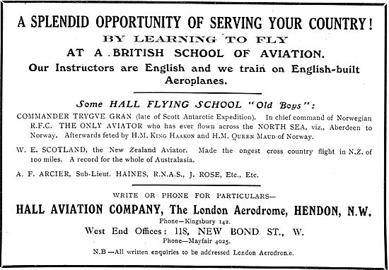 Leran To Fly & Serve Your Country - Hall School Of Flying Hendon