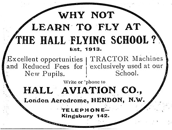 Leran On Tractor Machines At The Hall School Of Flying Hendon