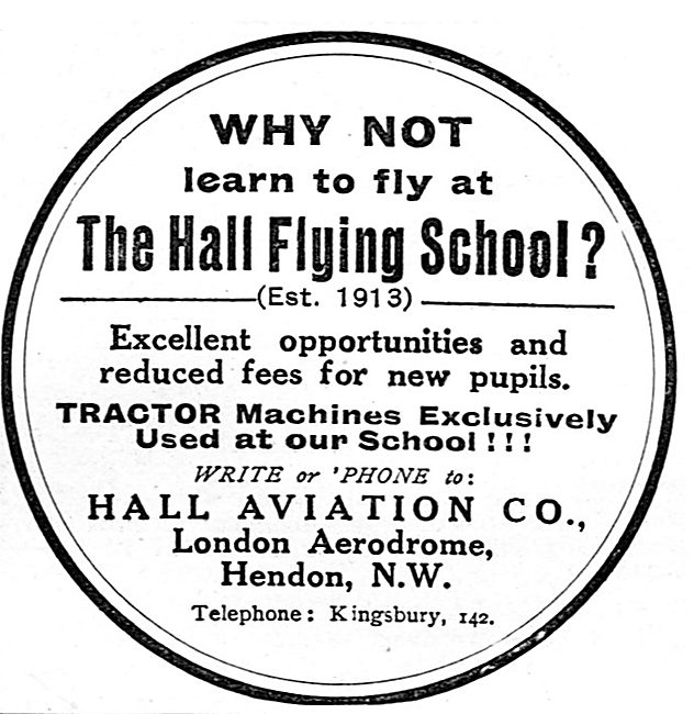 Excellent Opportunities At The Hall School Of Flying