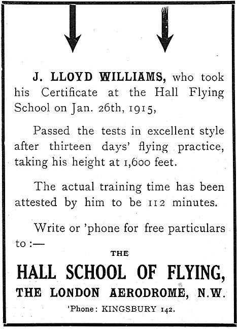 Hall School Of Flying J.Lloyd Williams Case Study