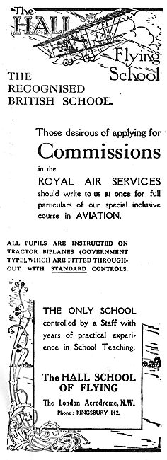 Hall School Of Flying - The Recognised British School