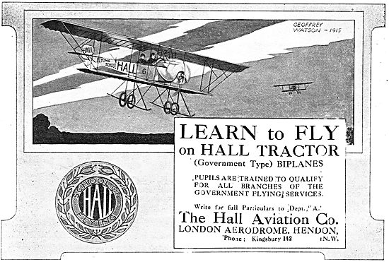Learn To Fly On Hall Tractors (Govt Type) Hall School Of Flying