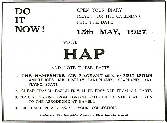 Hampshire Air Pageant - The First British Amphibious Air Display