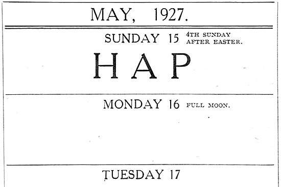 Hampshire Air Pageant 15th May 1927