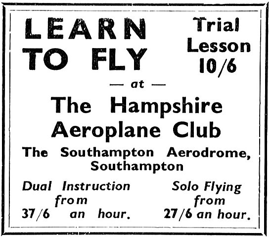 Learn To Fly At The The Hampshire Aeroplane Club