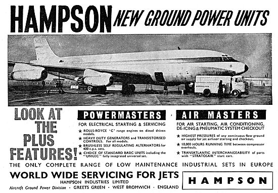 Hampson Aircraft Ground Power Units & Air Starters