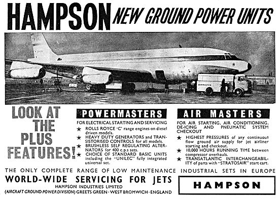 Hampson Powermaster Aircraft Ground Power Units & Air Starters