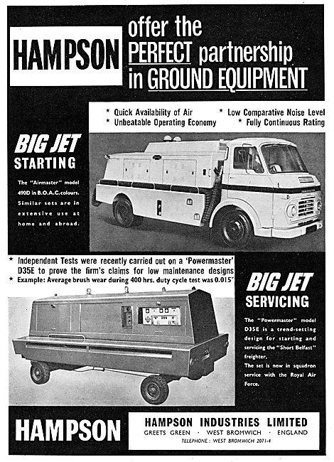Hampson Airmaster Mobile Jet Starter. Hampson Powermaster D35E