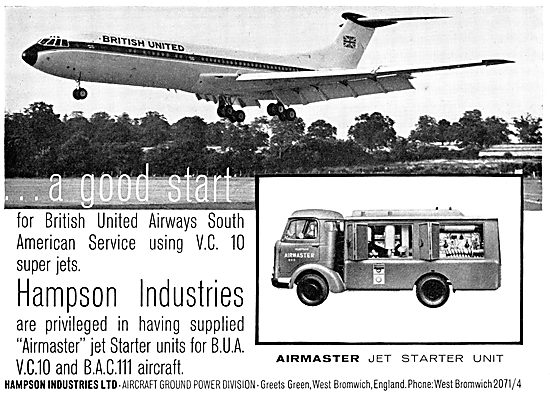 Hampson Aircraft Ground Power Units & Air Starters 1965