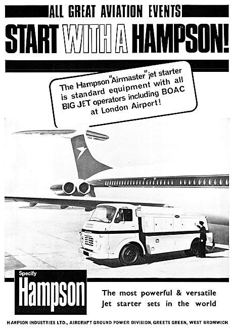Hampson Aircraft Ground Power Units. Airmaster Jet Starter