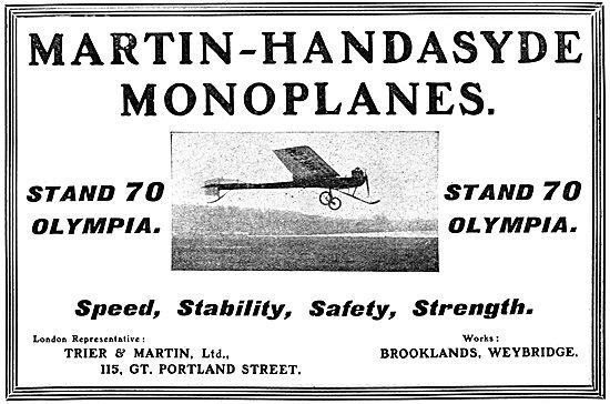 Martin-Handasyde Aircraft - Martin-Handasyde Monoplane 1911