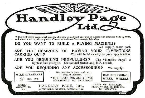 Handley Page Aeronautical Experts: Aeroplanes & Accessories