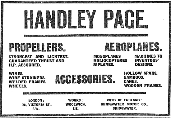 Handley Page Propellers, Aero Supplies & Accessories