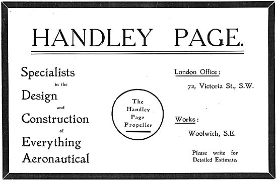 Handley Page Specialists In Aeronautical Design And Construction