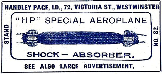 Handley Page HP Special Aeroplane Shock Absorber