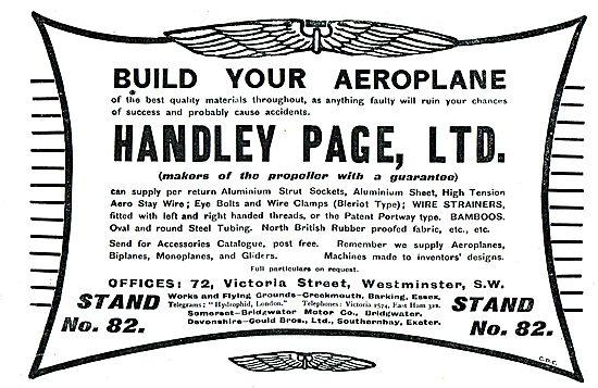 Let Handley Page Build Your Aeroplane & Propeller