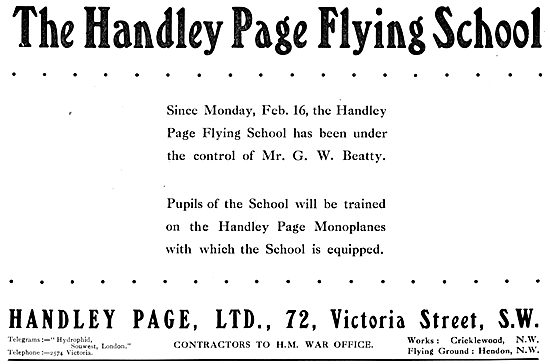 Handley Page Flying School - Beatty