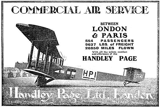 Handley Page Commercial Air Service - HP1