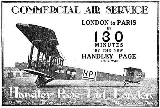 Handley Page Commercial Air Service - HP1 Type W8