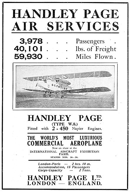 Handley Page Commercial Air Service - Type W8