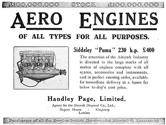 Handley Page - ADC - Aircraft Disposal Company - Siddeley Puma