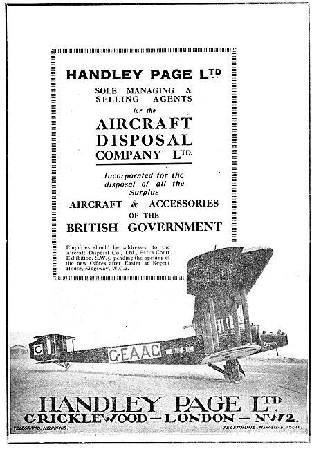 Handley Page - ADC - Aircraft Disposal Company