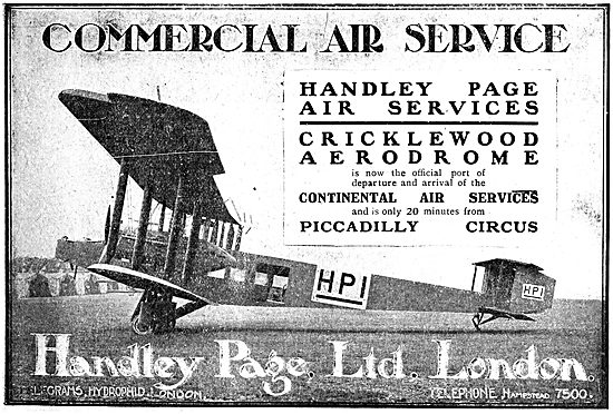 Handley Page Commercial Air Services Cricklewood