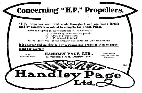 Concerning Handley Page Propellers