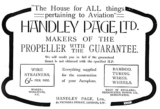 Handley Page Guaranteed Aeroplane Propellers