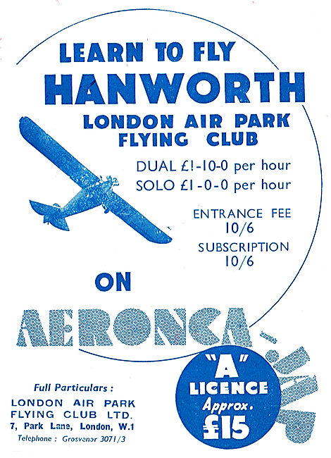 Learn To Fly At Hanworth On Aeronca - London Air Park Flying Club