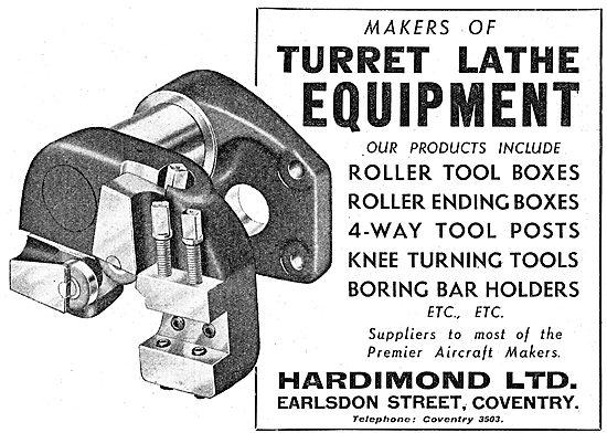 Hardimond Lathe Tools - Turret Tools 1942