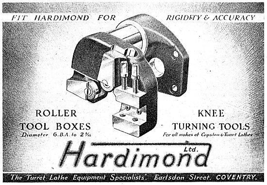 Hardimond Lathe Tools - Turret Tools