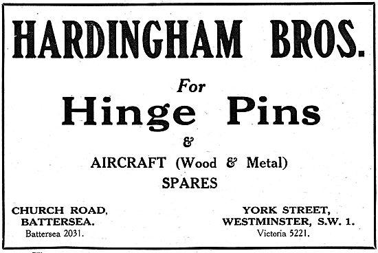 Hardingham Bros - Manufacturers Of Aircraft Parts