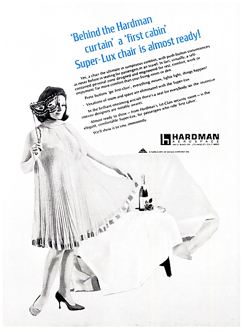 Hardman Aerospace  Aircraft Seating 1968