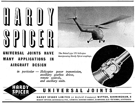 Hardy Spicer Universal Joints For Aircraft Components