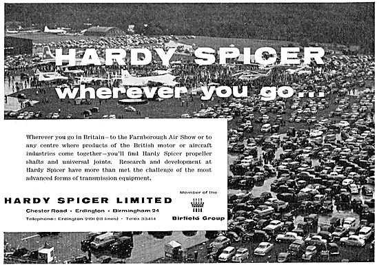 Hardy Spicer Shafts & Universal Joints For Aircraft