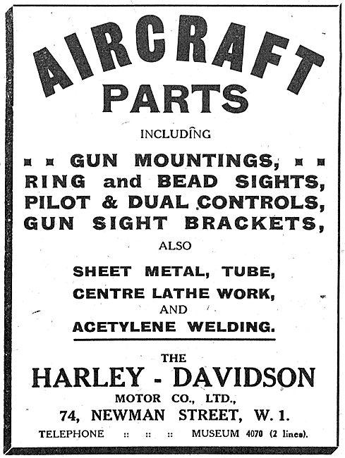 Harley Davidson Aircraft Parts: Gun Mountings, Ring & Bead Sights