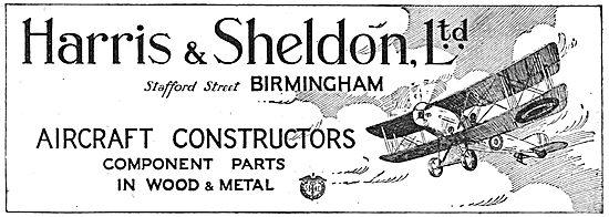 Harris & Sheldon - Aircraft Constructors. Aircraft Components