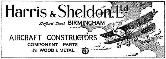 Harris & Sheldon - Wood & Metal parts For Aeroplanes