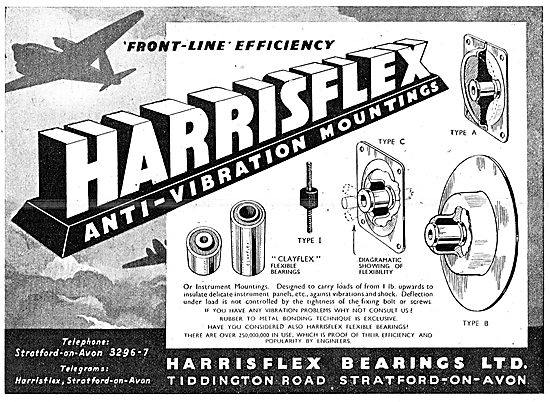 Harrisflex Bearings. Harrisflex Ant-Vibration Mountings