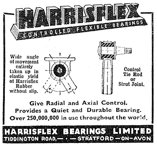 Harrisflex Bearings. Harrisflex Controlled Flexible Bearings 1943