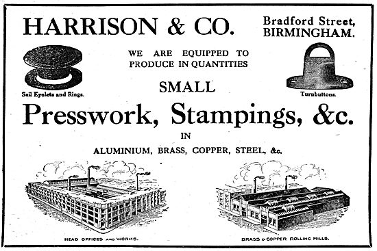 Harrison & Co - Presswork, Stampings. Aircraft Components