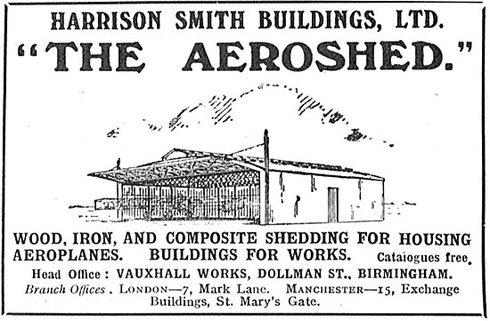 The Harrison Smith Aeroshed For Aeroplanes