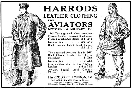 Harrods Leather Clothing For Aviators
