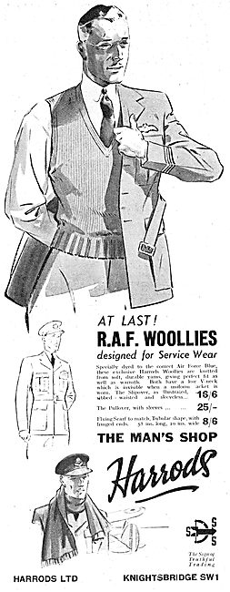 RAF Officers Woolies, Scarves & Pullovers